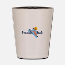 Pensacola Beach - Map Design. Shot Glass