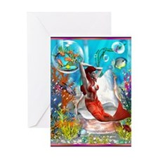 orange under sea12 Greeting Card