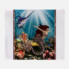 tiger swordfish Throw Blanket