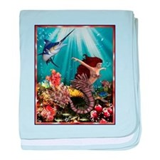 tiger swordfish baby blanket