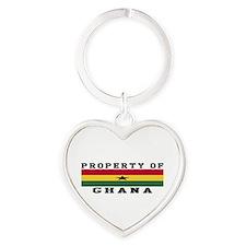 Property Of Ghana Heart Keychain