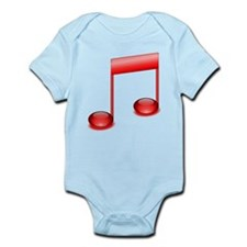 Red Eighth Notes Body Suit