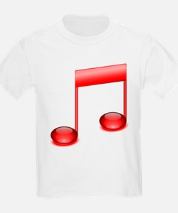 Red Eighth Notes T-Shirt