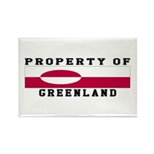Property Of Greenland Rectangle Magnet