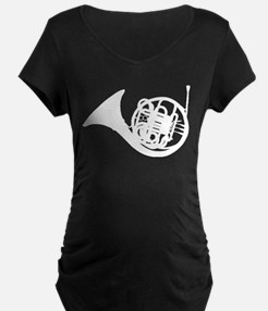 White French Horn Maternity T-Shirt
