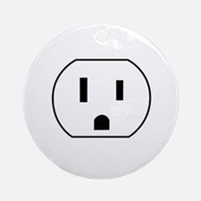 Electrical Outlet Ornament (Round)