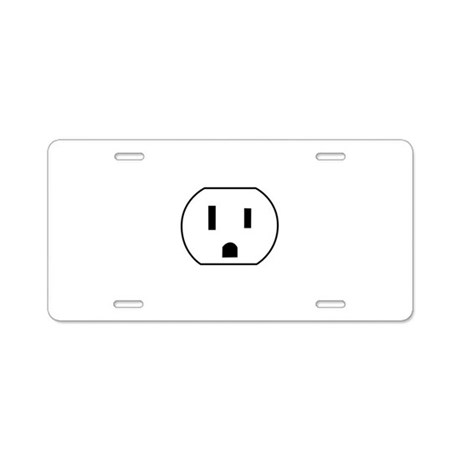 Electrical Outlet Aluminum License Plate
