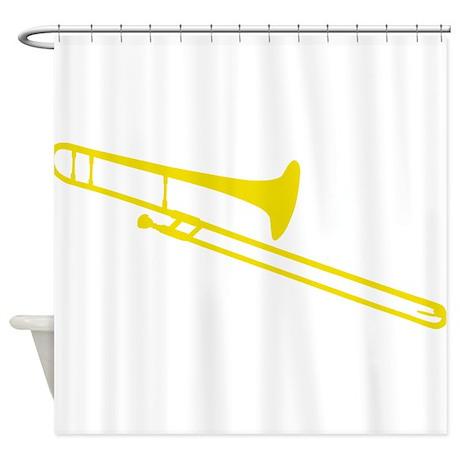 Golden Trombone Shower Curtain