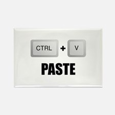 Paste Twins Rectangle Magnet (10 pack)
