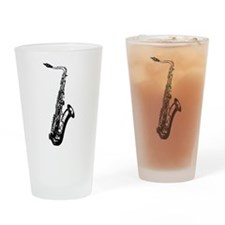 Saxophone Drinking Glass