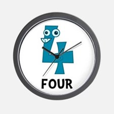 Number Four Wall Clock