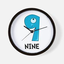 Number Nine Wall Clock