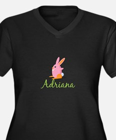 Easter Bunny Adriana Plus Size T-Shirt