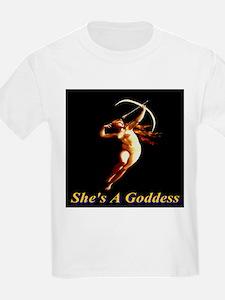 She's A Goddess Kids T-Shirt
