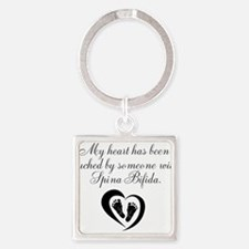 Touched by Spina Bifida Keychains