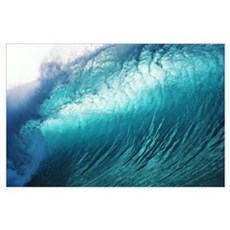 Hawaii, Close Up Of Huge, Glassy Wave Poster