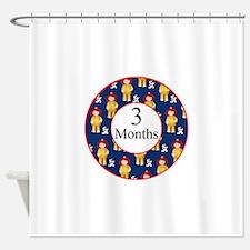 3 Months Fireman Milestone Shower Curtain