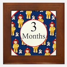 3 Months Fireman Milestone Framed Tile