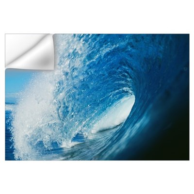 Hawaii, Inside Curling Blue Wave Wall Decal
