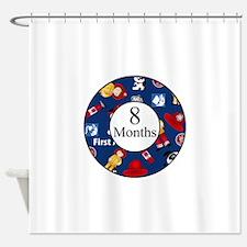 8 Months Fireman Milestone Shower Curtain