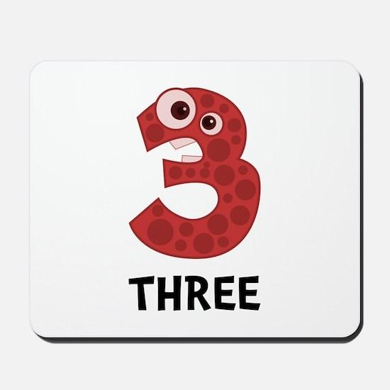Number Three Mousepad