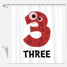 Number Three Shower Curtain