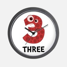 Number Three Wall Clock