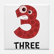 Number Three Tile Coaster