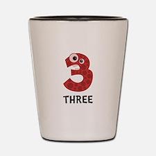 Number Three Shot Glass