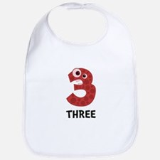 Number Three Bib