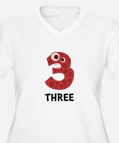 Number Three Plus Size T-Shirt