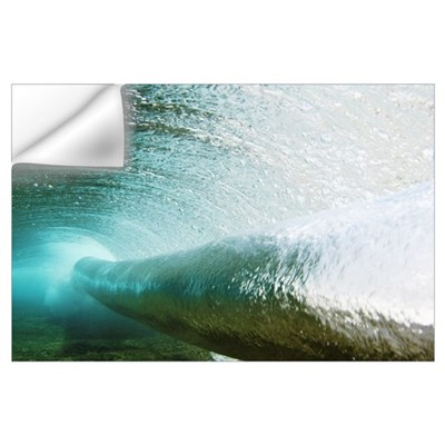 Hawaii, Long Blue Curl Of A Wave From Underwater Wall Decal