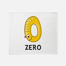 Number Zero Throw Blanket
