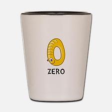 Number Zero Shot Glass