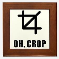 Oh Crop Framed Tile
