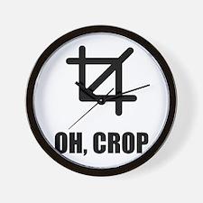 Oh Crop Wall Clock