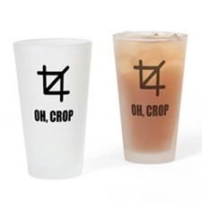 Oh Crop Drinking Glass