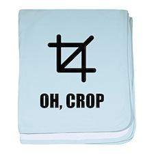 Oh Crop baby blanket