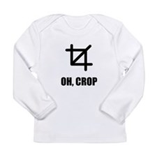 Oh Crop Long Sleeve T-Shirt