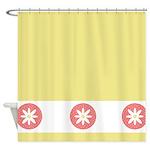 Cute Floral Design Shower Curtain