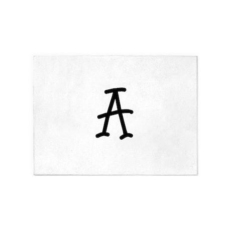 Bookworm Monogram A 5'x7'Area Rug