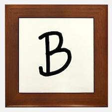 Bookworm Monogram B Framed Tile