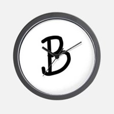 Bookworm Monogram B Wall Clock