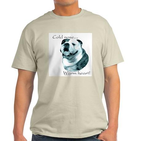 Bulldog Warm Heart Ash Grey T-Shirt