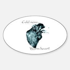 Bernese Warm Heart Oval Decal