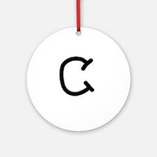 Bookworm Monogram C Ornament (Round)
