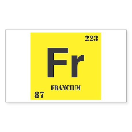 Francium Element Rectangle Sticker