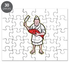 Japanese Fishmonger Butcher Chef Cook Puzzle