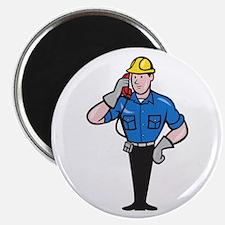 Telephone Repairman Lineman Worker Phone Magnet