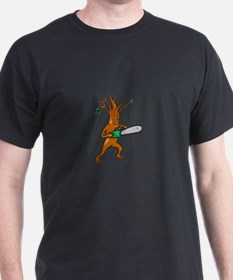 Tree Man Arborist With Chainsaw T-Shirt